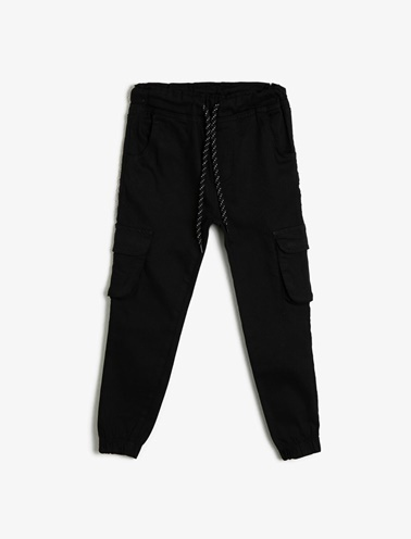 Koton Kids Beli Baglamali Pantolon Siyah